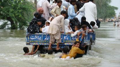 Pakistan er ramt af kraftige oversvømmelser