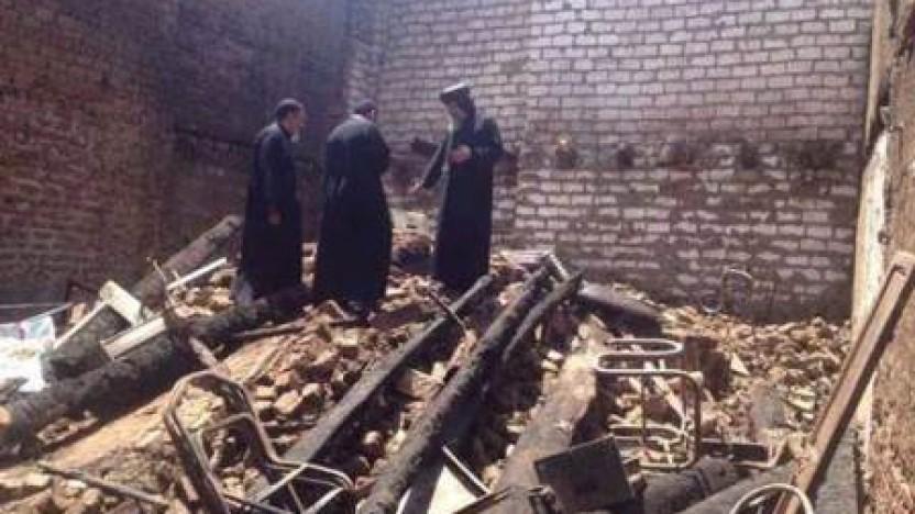Egyptisk brandvæsen havde ikke travlt med at slukke kirkebrand