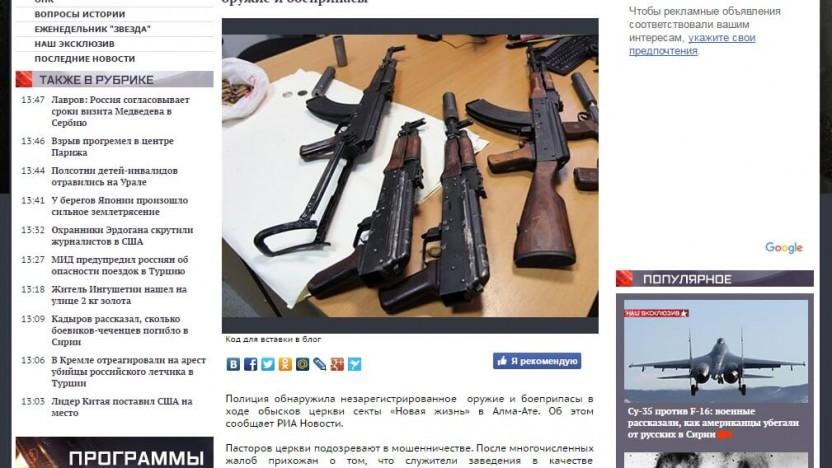 Pressemeddelelse fra anklaget kirke i Kasakhstan