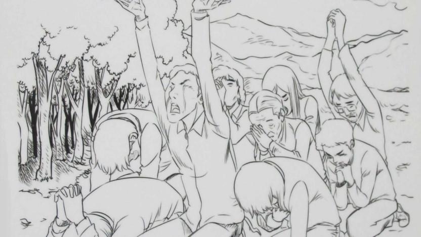 Forfulgte kristne i Nordkorea beder i skov