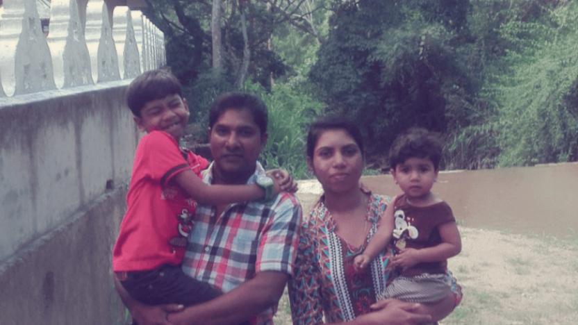 Jeyan og Suren mistede deres datter i terrorangrebet i påsken
