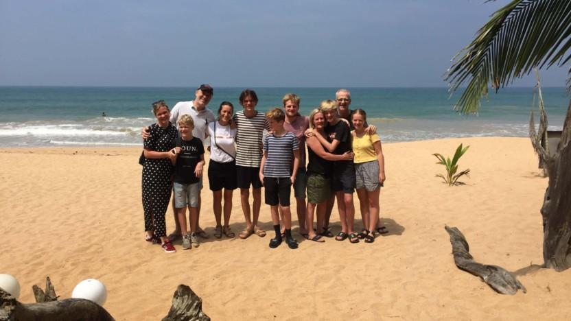 Turen går til Sri Lanka – når to familier rejser sammen