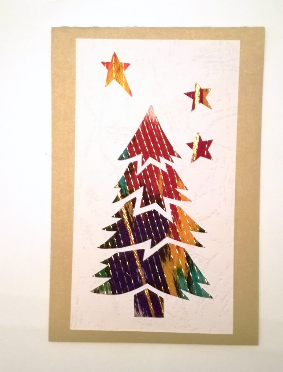 Håndlavede julekort (juletræ)