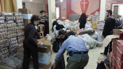 Indbyggere i Aleppo er taknemmelige for nødhjælpen