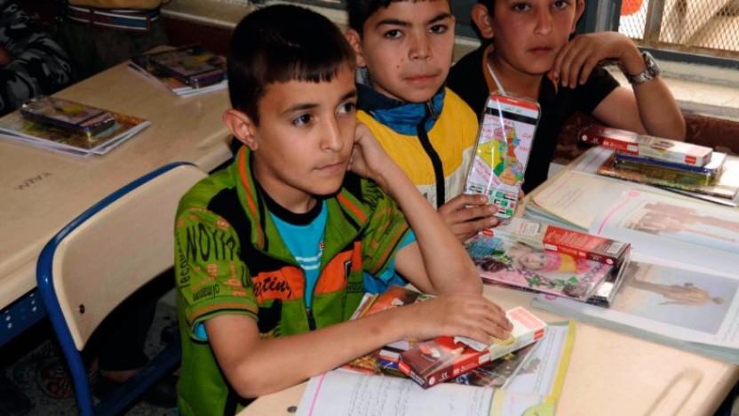 Børn i Syrien er taknemmelige for skolegang