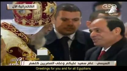 Egyptens præsident Sisi var i kirke juleaften!