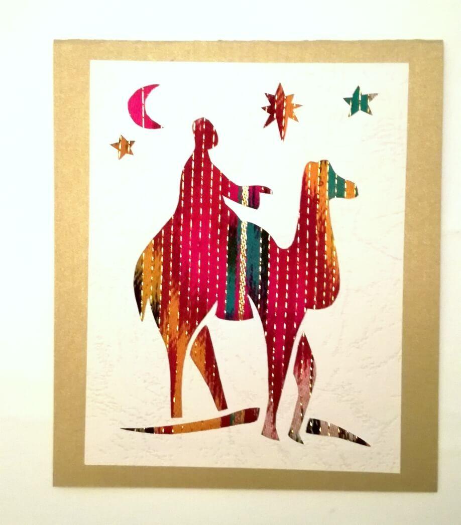 Håndlavede julekort (kamel)
