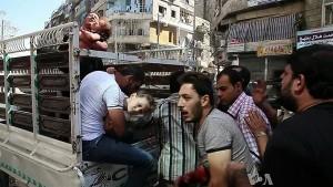 Syrien sårede Aleppo