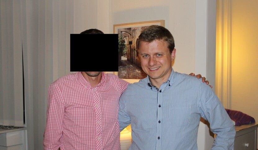 Ahmet med Samuel Nymann Eriksen