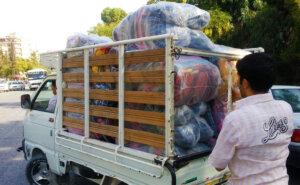 7c Lastbil med tæpper