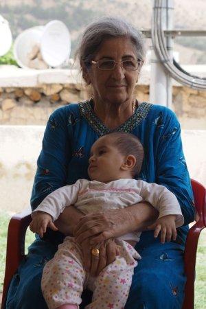 Yazidikvinde med baby